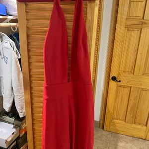 Bebe red jumpsuit